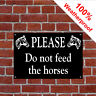 Please do not feed the horses sign 5027WBK Farm, Horse, Pony and Equine signs