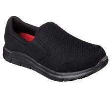 76580 Negro Zapatos para mujer de trabajo de Skechers Espuma de memoria Flex confort antideslizante