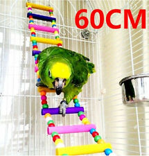 FD2554 Pet Bird Swing Wooden Bridge Ladder Climb Parrot Bird Toy ~60CM LARGE~