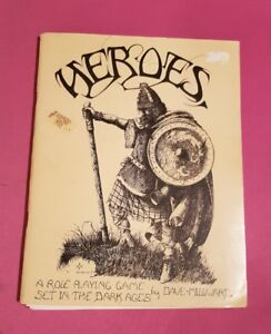 HEROES - A ROLE PLAYING GAME SET IN THE DARK AGES BY DAVE MILLWARD RARE PRE-GW