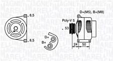 Generator 12 V Für FIAT 500 Grande Punto Stilo Multi Wagon 51859039