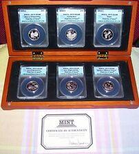 2009-S US TERRITORIES QUARTERS 6 COIN SET ANACS PR70 DCAM FDOI CLAD #331 OF 1749