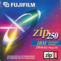 New Factory Sealed Fujifilm Zip 250 Disk IBM Formatted ~ FREE Shipping USA