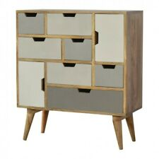 White and Grey Gradient Chest of drawers