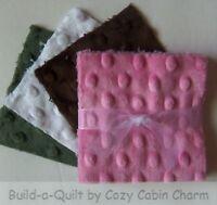 """20 ~ 4"""" Shannon Minky Plush Raised Dot Precut Fabric Squares (Lot# 32)"""