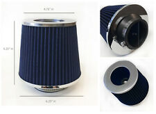 """BLUE 3 Inch 3"""" 76mm Cold Air Intake Cone Filter For BMW 3-Series 5-Series"""
