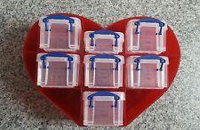 Rouge en forme de cœur 0.14 L Boîte Organisateur