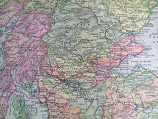 La Scozia, mappa anni 1890