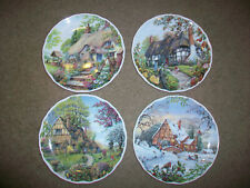 Royal Albert Dream Cottages 4 Plates Summer Winter Spring Fall Peter Riverford