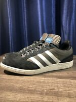 Adidas Men's Busenitz Pro Grey Canvas Black Suede Size 10.5 + Extra Laces