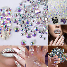 Mixed Glitters 3D Nail Art Rhinestones 300pcs Acrylic Tips Decoration Manicure
