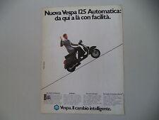 advertising Pubblicità 1984 VESPA 125 AUTOMATICA
