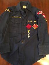 vintage webelos cub scout uniform 1960's badges and pins, belt, shirt, pant