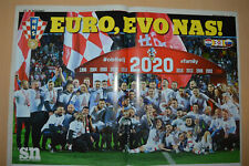 XMAS GIFT Papers Poster NEXT GEN CROATIA SOCCER TEAM HERE WE COME Euro 2020 UEFA