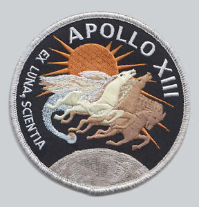 Official NASA Apollo 13 Embroidered Mission Patch, Lovell, Haise and Swigert