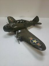 VINTAGE 1930'S - 40'S MARX TOYS U.S. ARMY/AIRFORCE TWIN ENGINE AIRPLANE -