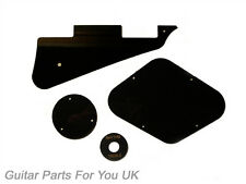 Les Paul Nero 1 strati Plastics Kit Pick Guard Interruttore Coperchio di controllo ad anello ecc.