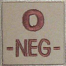 ECUSSON O- SABLE GROUPE SANGUIN O NEG NEGATIF INSIGNE SECOURISME URGENCE LS