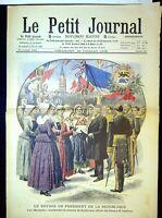 Le Petit Journal N°923 du 26/7/1908 Le voyage du président de la république