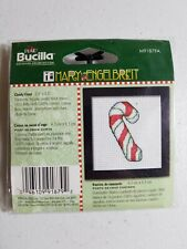 "Bucilla Counted Cross Stitch Kit Mary Engelbreit Candy Cane 2.5""x2.5"""