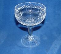 """GALWAY CASTLEROSSE CRYSTAL CHAMPAGNE GLASS TALL SHERBET  5""""  CUT STAR BASE"""