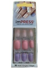 Impress press on manicure 30 nails bipa170gt Goal Digger No Glue Needed