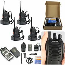 Long Range Security Patrol Police Two Way Radio Walkie Talkie Set 4 Pack BLACK