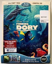 NEW DSNEY FINDING DORY BLU RAY DVD + SLIPCOVER BEST BUY EXCLUSIVE 69 PAGE BOOK