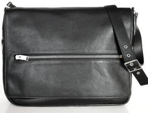 Saint Laurent Sac Rider $2190 Crossbody Black Leather Messenger Bag - YSL 375344