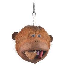 Coco Monkey - Kokosnuss Affenkopf, Spielen, Knabbern, für kl. Papageien