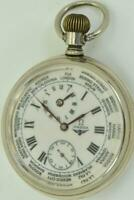 Antique Omega Railroad  WORLD TIME/Second Time Zone pocket watch c1900's