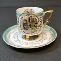 Vintage Footed Demitasse Cup and Saucer Brulatour Courtyard New Orleans LA Japan