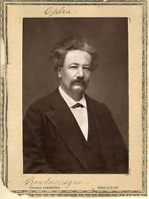 Lemercier, Paris, Opéra. Ténor Boudouresque  Vintage print.  Photoglyptie  8