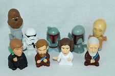 STAR WARS Bobble Heads & Figures Cake Toppers Lot Luke Leia Obi-Wan