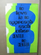 love is to approach each other 1970 Vintage Poster thoughts Inv#4974
