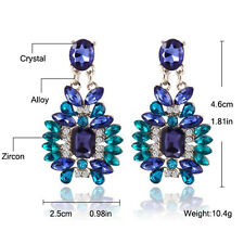 1Pair Luxury Women Crystal Rhinestone Big Dangle Drop Earrings Stud Jewelry BDAU