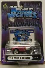 32 ROADSTER HOT ROD FORD STREET OUTLAWS DRAG RACE PINK 03-19 MUSCLE MACHINES