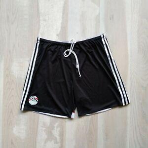 Egypt Team Football Shorts Black Adidas M35795 Polyester Mens Size XL
