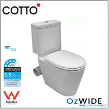 Cotto Skew Toilet Suite Left or Right Space Solution Side Bend Hygiene Glaze