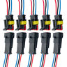 10 Set 3 Pin Way 12V Electrical Wire Connector Plug Cable Waterproof Car ATV