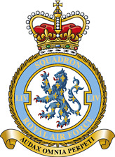 RAF 54 SQUADRON BADGE ON METAL SIGN 5 x 7 INCHES. FITS STANDARD FRAME. ALUMINIUM
