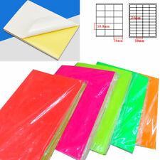 A4 Paper Self-Adhesive Sticker Sticky Back Paper Art Inkjet Laser Print Lot New