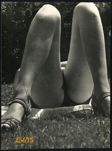 Larger size Vintage Photograph, pretty girl sunbathing, swimsuit, rare, 1950'