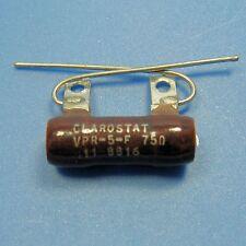 Clarostat 75 Ohm 5W 5% Wirewound Power Resistor Axial Wire Lead Ceramic Case NEW