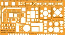 1:50 Scale Metric Architect Furniture Layout Drawing Drafting Template Stencil