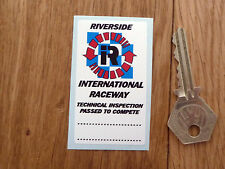 RIVERSIDE Technical Inspection SCRUTINEER Race Car Sticker Track Racing Circuit