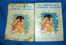 Vintage 1944 per BAMBINI Libro Prayers & Hymns,Bello Illustrazioni Sharon