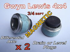 2 x Land Rover Magnetic Diff Drain Bung ARB Diff Locker Level Plug Gwynn Lewis