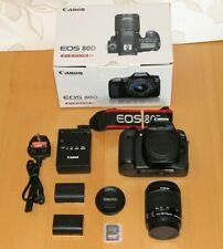 Canon EOS 80D 24.2MP Fotocamera SLR + Canon 18-55mm IS STM + batteria extra + 32gb