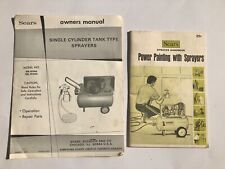 Vintage Manual Sears Single Cylinder Tank Type Sprayers + Sprayer Handbook